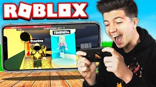 I Won as the Beast on Roblox Mobile with BriannaPlayz & Leah Ashe!