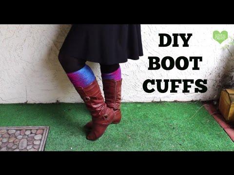 No Sew Tie Dye Boot Cuffs