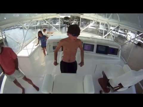 Kid Pilots a Motor Yacht!