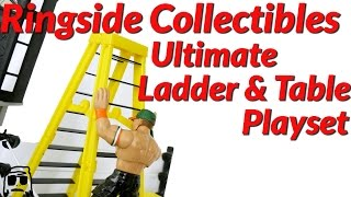 Ringside Collectibles Ultimate Ladder & Table Playset for WWE Toys Unboxing, Construction & Review!!