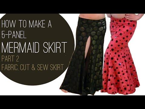 How to Make a Mermaid Skirt Part 2: Fabric, Cut & Sew Skirt