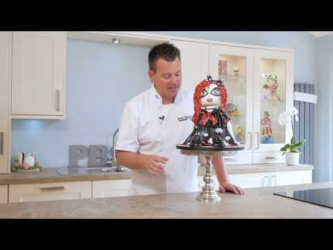 Learn how to make a punk ragdoll cake. Perfect for Halloween