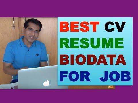 HOW TO MAKE RESUME CV FOR A JOB [Hindi]