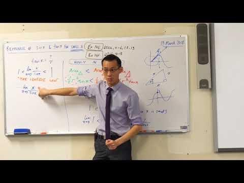 Behaviour of sinx & tanx for small x (3 of 3: Establishing the limit)