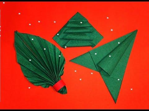 Napkin Folding  - 3 Best ideas for Christmas table decoration