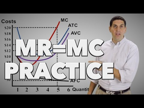 Micro 3.7 MR = MC Practice: Econ Concepts in 60 Seconds for Advanced Placement Microeconomics
