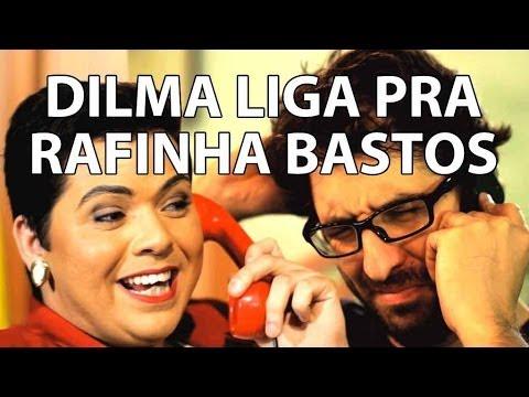 Presidenta Dilma liga pra Rafinha Bastos (Agora é Tarde)