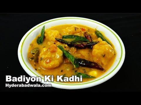Badiyon ki Kadhi Recipe Video - How to Make Besan Ke Badiyon Ki Kadhi - Hyderabadi Cooking