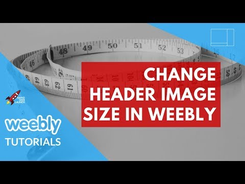 How to change the header image size in Weebly | Weebly Tutorials