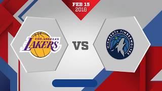 Los Angeles Lakers vs. Minnesota Timberwolves - February 15, 2018