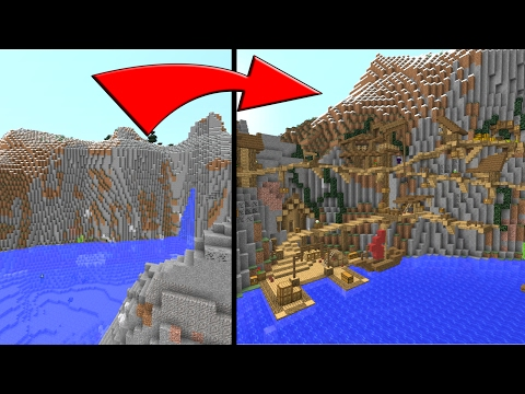 Minecraft How To Build A Village On A Mountain Side
