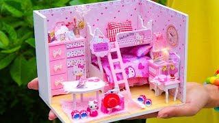 DIY Miniature Hello Kitty Dollhouse Room