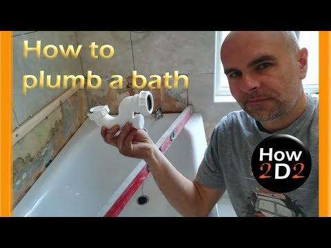 How to install and plumb bath tub waste with overflow taps and bath trap