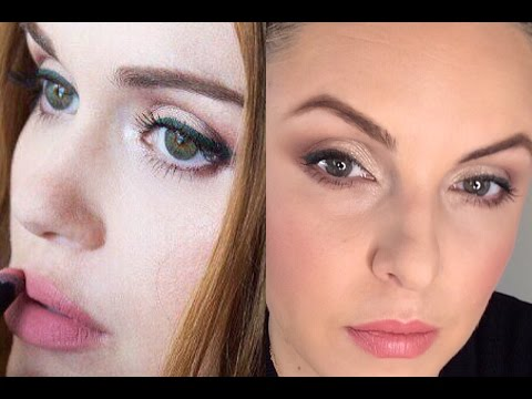 How to wear burgundy/pink eyeshadow- Holland Roden Comic con Look- Elle Leary Artistry