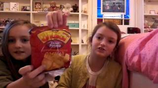 Unboxing toys and trying Asian snacks (NACHO SISTERS)