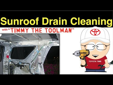 Sunroof Drain Cleaning