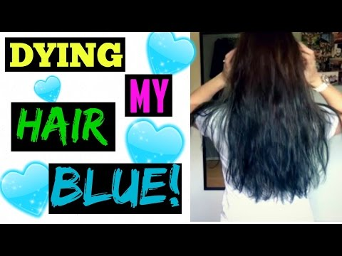 DYING MY HAIR BLUE! | BROWN TO BLUE HAIR COLOR!