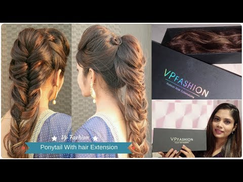 Fishtail Ponytail Hairstyle Using Hair Extension   vp Fashion Human Hair Extension