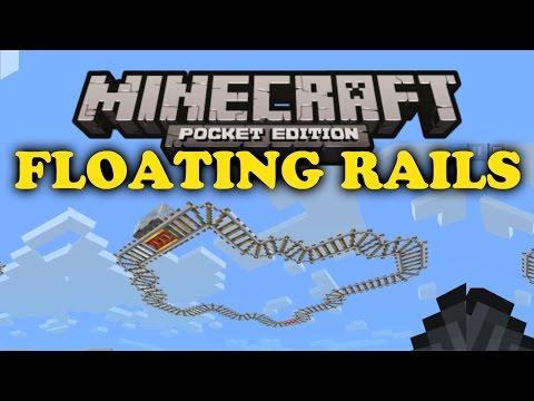 ✔ Floating Rails Glitch - Minecraft PE