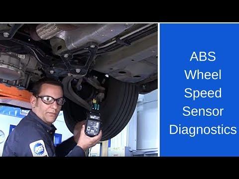 ABS wheel speed sensor diagnostics