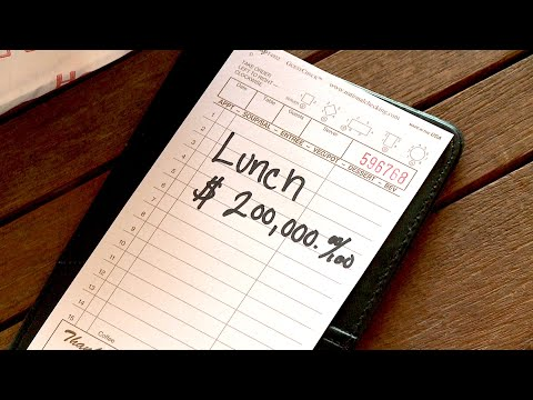 How to Pay $200,000 for Lunch