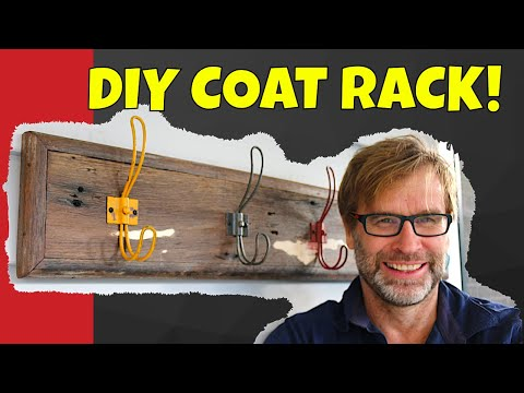 How to Build a Coat Rack. Simple, Quick & Cheap!