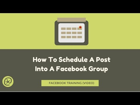 How To Schedule A Post Into A Facebook Group