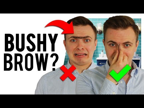 How To Pluck BUSHY Men's Eyebrows | Attractive Eyebrow Shape Guide
