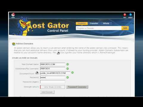 how to add domain name on hostgator cpanel
