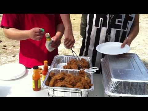 Serving Hot food @ Dillon's Airsoft Birthday Party