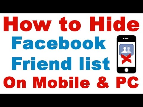 How to Hide Friends List on Facebook on Mobile & PC Easily (Facebook Friend Hide)