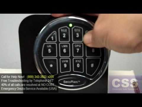 SecuRam ECSL-0601A Electronic Safe Keypad (SR1) Penalty Mode   Lockout