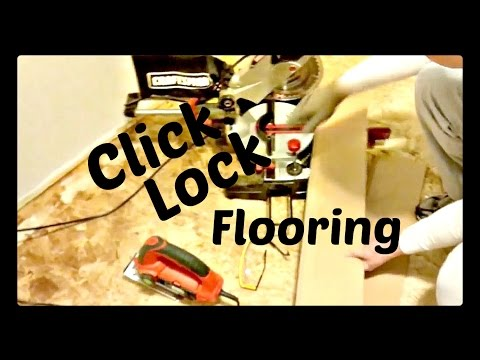 How to Install Laminated Floor (Tarkett) & Cut with Miter Saw