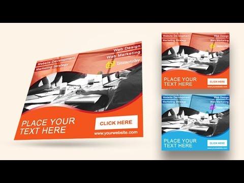 Illustrator tutorial - Web ad banner design