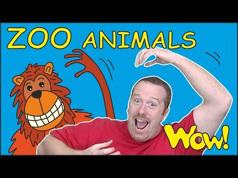 ZOO Animals for Kids | Stories from Steve and Maggie | Learn Speaking Wow English TV | Words ingles