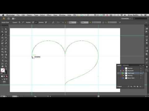 Draw a Heart Shape Using Bezier Controls in Adobe Illustrator