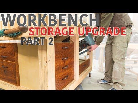 Double Flip Top Workbench - Storage Upgrade (Part 2 of 2)