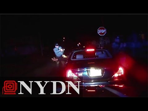 Raw: Dashcam shows police shooting death of New Jersey man who had hands in air