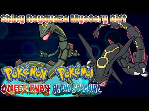 Pokémon Omega Ruby & Alpha Sapphire - Shiny Rayquaza Mystery Gift