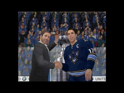 NHL09 PC NSH VS ATL Stanley Cup Celebration and awards