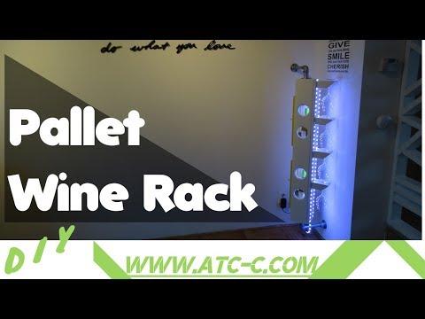 Pallet wine Bottle/Glass rack // DIY