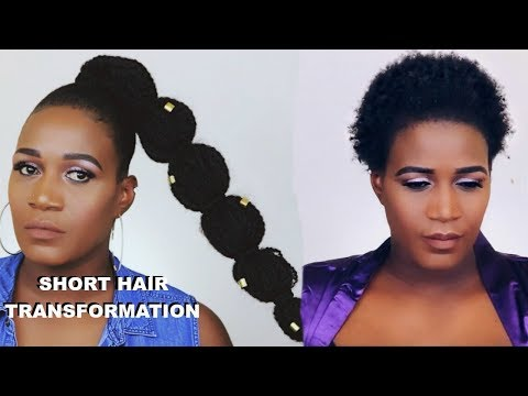 HOW TO JUMBO RUBBER BAND PONYTAIL WITH BRAIDING HAIR | MARLEY HAIR