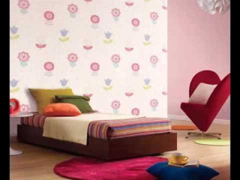 Cute Girls room wallpaper design ideas