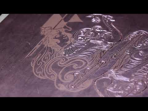 Queen of Diamonds Engraving Timelapse