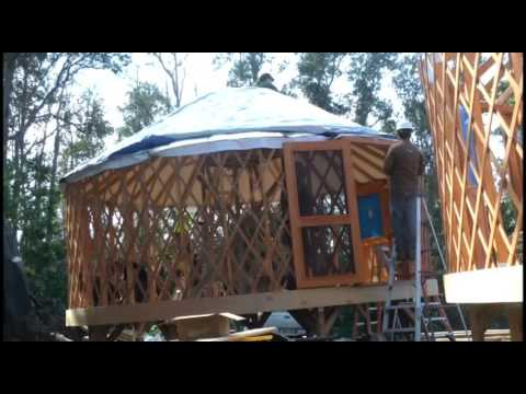 Yurt Assembly Time Lapse