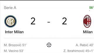 AC MILAN VS INTER MILAN LIVE SCORE 2-2