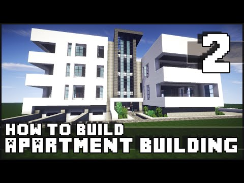 Minecraft - How to Build : Modern Apartment Building - Part 2