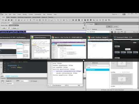 Add CSS to Dreamweaver Template