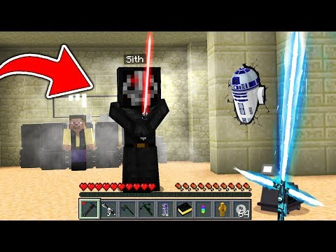 CRAZY MINECRAFT LIGHTSABER DUEL WITH FORCE POWERS!