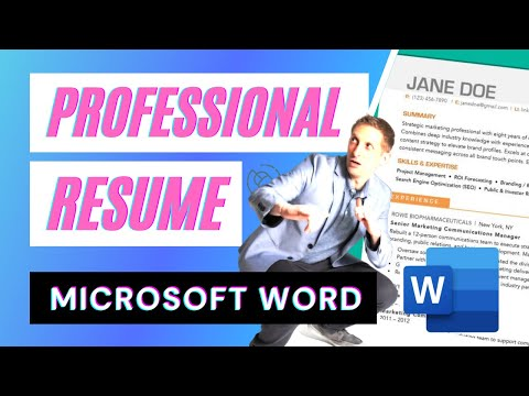 Create a Professional Resume in Microsoft Word